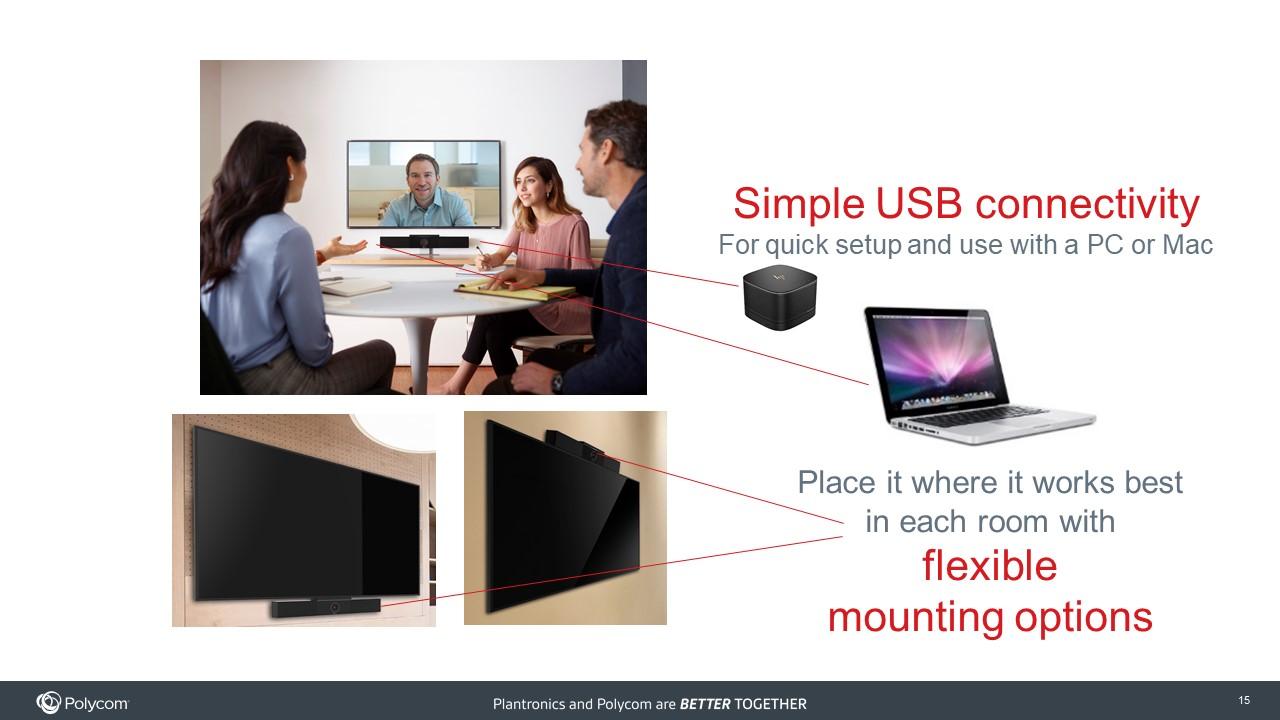 Polycom Studio   Huddle Room Video Conferencing Camera & Speaker
